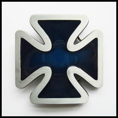 Hebilla cruz azul