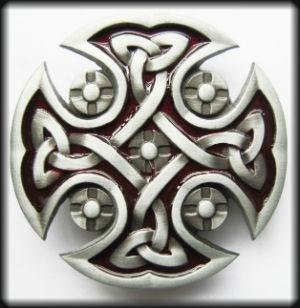 hebilla cruz celtic rojo