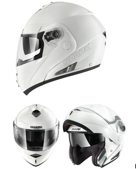 casco shark openline blanco