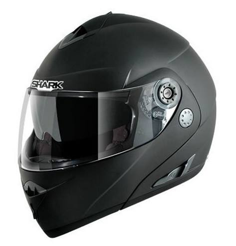 casco shark openline negro mate